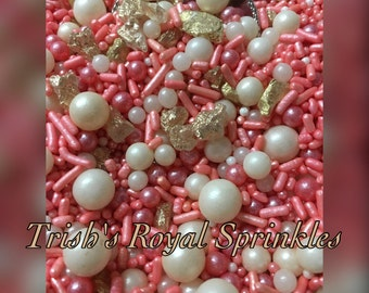 Vintage Pearls in Peach/Coral~~The Wedding Collection
