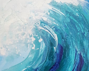 "Abstract art painting ""Surfer's View"""