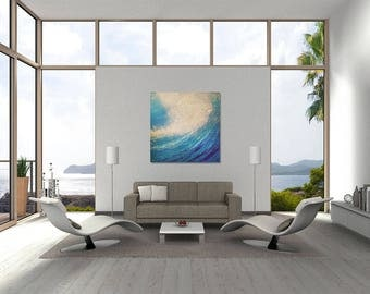 """Abstract Art Painting """"Rolling Waves"""""""