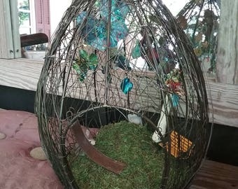 Butterfly cage art
