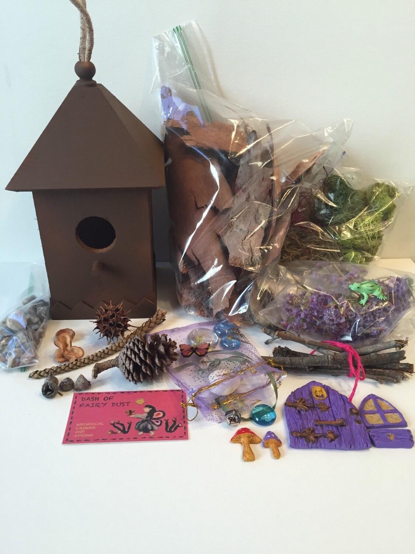 Diy fairy house kit fairy door gnome home woodland fairy for Diy fairy house door