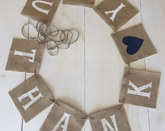 Burlap THANK YOU & DATE Banners