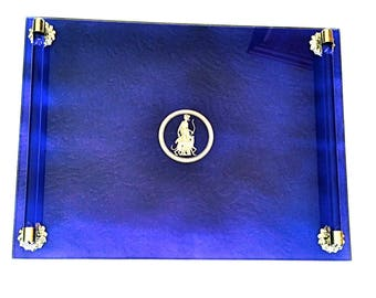 Deco Cobalt Blue Vanity/Bar Tray