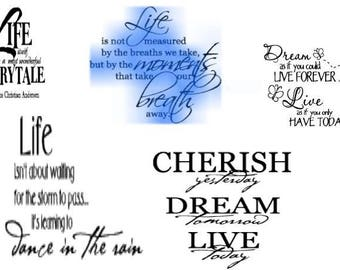 wall art quotes png svg cutting machines sublimation instant download x 5