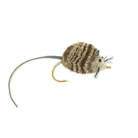 Bass Fly Fishing Bug: Deer Hair Mouse - Hook Size 4 - Premium Wide Gape Bass Hooks With Weed Guard