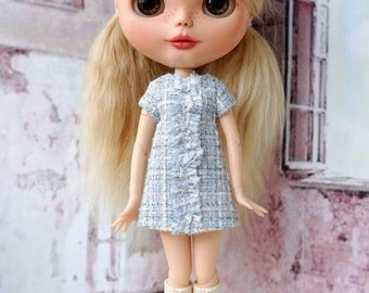 Chanel style dress for Blythe or similar bodies