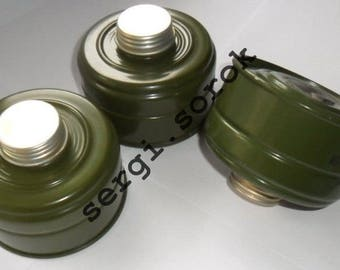 Ussr Russian Gas Mask Filter Canister GP-5k 40mm with gas mask box for gp-5/gp-7/gp-7vm/gp-9/ppm-88/mag, 3 pcs