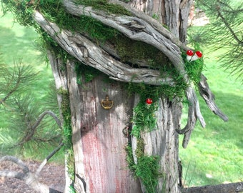 Large Rustic Fairy Door /  fairy house/ Wedding decor, fairy garden, garden party,enchanted forest, woodland decor,baby shower,