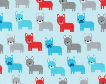 Aqua Dogs Cotton Fabric
