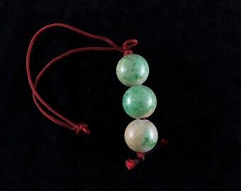 Rough imperial jade beads bracelet