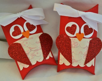 Owl Wrappers filled with with Valentine M&M's