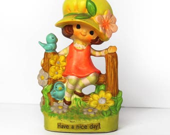 "Vintage World Wide Arts ""Have a Nice Day"" Figurine 1973"
