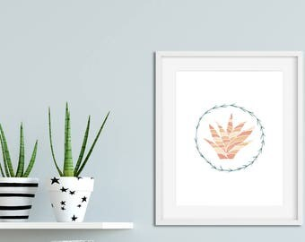 cactus print, Nursery print, cacti wall art, cactus illustration, nursery wall art, modern nursery decor, childrens print, kids room decor