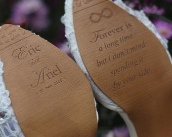 Add on Custom Grave Name In your Wedding Shoes