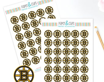 30 Boston Bruins Hockey Reminder or Planner Stickers