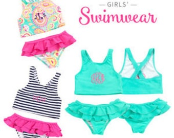 Monogrammed WB Toddlers Swim Suits