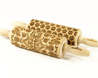 Set of 2 MIDI rolling pins - Choose any 2 patterns from my store