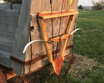 Bow and arrow rack