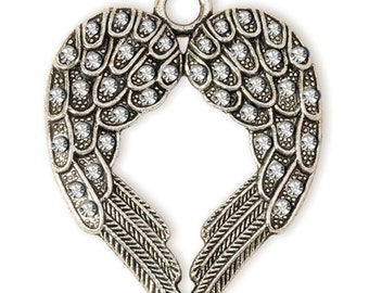 Double Winged Pendant - Silver (STEAM133)