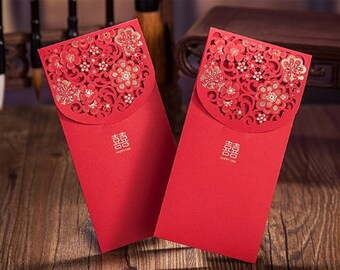 20 x Wedding Red Packet - Double Happiness - Chinese Wedding