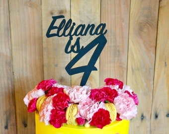 Custom Name/Age Birthday Cake Topper
