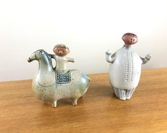Japan studio pottery pair
