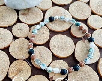 Ankles Rudraksha and agate bracelet