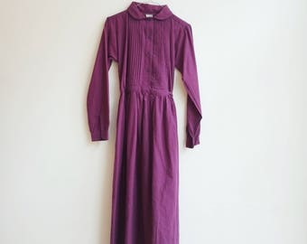 Vintage indian cotton hippie boho seventies deadstock dress S