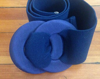 Vintage Navy Blue Belt
