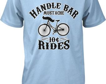 Handle Bar Mustache, 10 Cent Rides Men's T-shirt, NOFO_00190