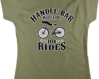Handle Bar Mustache, 10 Cent Rides Women's T-shirt, NOFO_00190