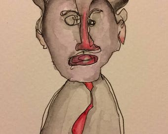 "Creepy Original Artwork ""Edwardo"""