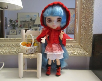 Little Red Riding Hood set for Blythe or similar scale 1:6