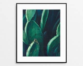Cactus Wall Art - Cactus Watercolor - Cactus Print - Catus Home Decor - Cactus Painting - Giclee Print - Southwest Decor - Nature Art