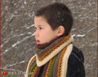 Crochet PATTERN - The Heartland Shawl Scarf Pattern (Toddler to Adult sizes - Girls) - id: 16030