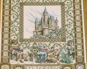 Teresa Wentzler The Castle Sampler Vintage Cross Stitch Kit Fantasy Musicians