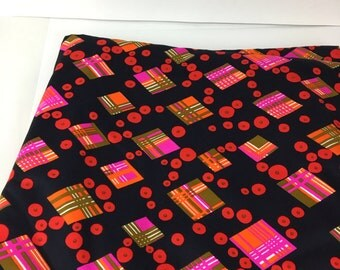 Vintage Fabric, Vintage 60s 70s Fabric, Vintage cotton textile, quality cotton fabric, groovy fabric , mod fabric