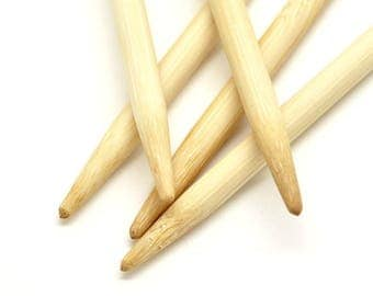 Bamboo double pointed needles 6.5 in 20 cm length