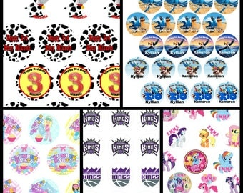 Perzonalized Cupcake Toppers, EDIBLE PRINTINGS, Edible  paper, Pre-Cut, Ready to Use, Any Theme.
