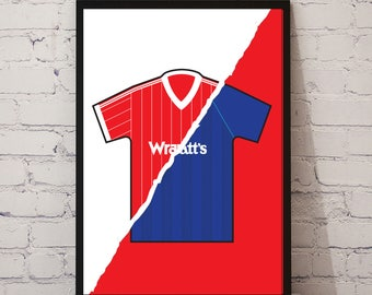 82-84 Nottingham Forest Home x 93-95 Away Print