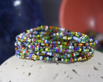 Women's Beaded Bracelet, 100 Year Old Murano Glass Beads, Stacking Bracelet, Murano Bracelet