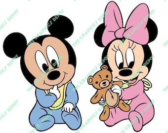 Baby mickey clipart – Etsy
