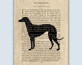 Greyhound Print, Greyhound Gift, Greyhound Poster, Greyhound Silhouette, Greyhound Art, Dog Wall Hanging, Dog Art Wall Decor, SKU 109