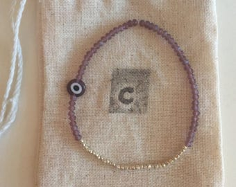 Purple Evil Eye Bracelet