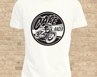 Cafe Racer T-Shirt, Mens or Flattering Fit Women's, Vintage Classic Bike Shirt, Take The Long Road