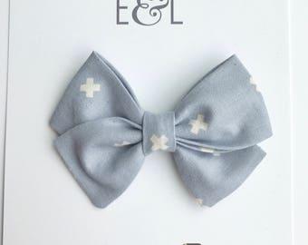 SALE!!! Thistle bow (small classic) on headband or hair clip