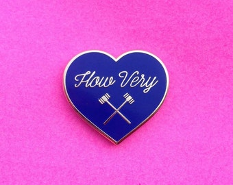 Heathers How Very Hard Enamel Pin Veronica Sawyer Chandler 1989 80s Big Fun Winona Ryder Christian Slater Mean Girls Film Flair