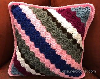 Crochet Pillow / Handmade Pillow / Square Pillow / Handmade Crochet Pillow / Home Decor / Decorative Pillow / Living Room Decor