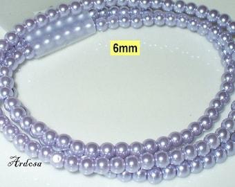 1 strand 82cm = 152 glass beads lilac light (806.17.1)