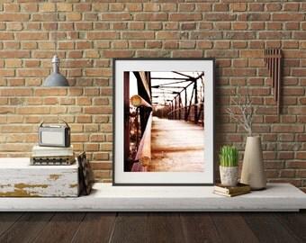 Man Made Things Photography - Bridge - Urban Home Decor - Photo of Bridge - Bridge Artwork - Home Decor - Wall Art - Wandering Left Print